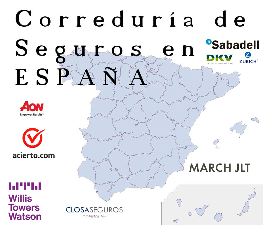 PRINCIPALES CORREDURÍA DE SEGUROS DE ESPAÑA
